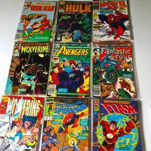 Vintage Lot 27 Assorted Comic Books Superhero
